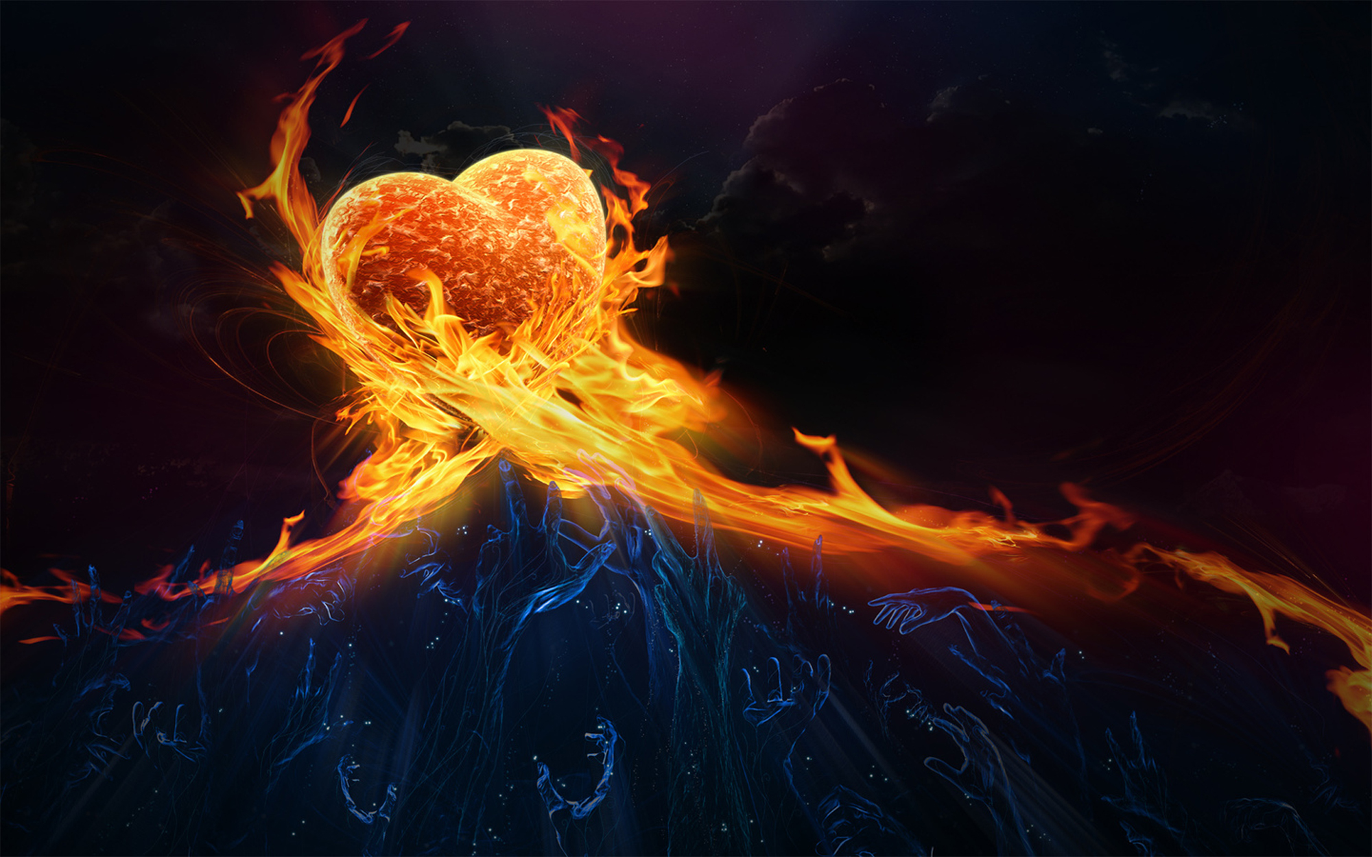 fire and ice heart - photo #6